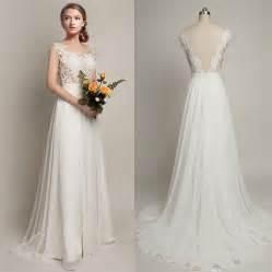 dressy dresses for weddings white cheap wedding dress 2017 lace chiffon open back bridal shower dress ba4218 a line