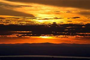 Free, Picture, Orange, Sunset, Dark, Clouds, Nature, Landscape, Sunset, Clouds, Sky, Mountains