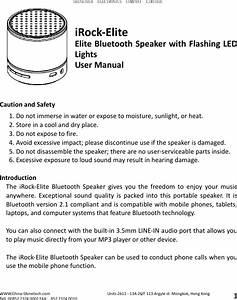 Shinetech Electronics Irockelite Bluetooth Speaker User Manual