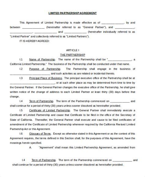 partnership contract partnership contract 9 free word pdf documents