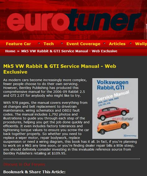 volkswagen rabbit owners manual  full version