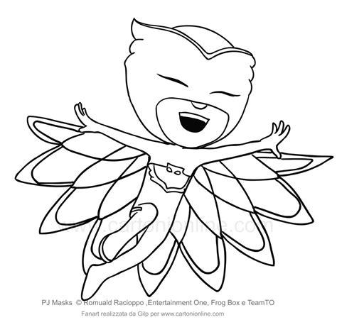 disegni da colorare pigiamini gattoboy carnevale maschera gatto da stare mamma e bambini con