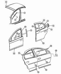 2004 Dodge Neon Weatherstrip  Right  Rear Door Belt