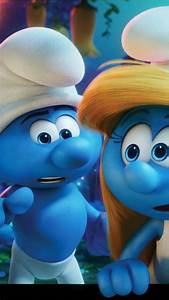 Wallpaper Get Smurfy, Best Animation Movies of 2017, blue