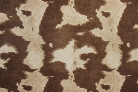 Cowhide Upholstery Fabric by Suede Cowhide Fabric Brown White The Fabric Mill