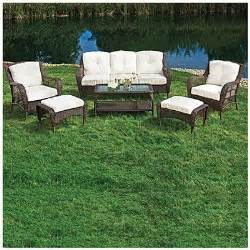 Wilson Fisher Patio Furniture Big Lots by Wilson Fisher 174 Cayman 6 Seating Set At Big