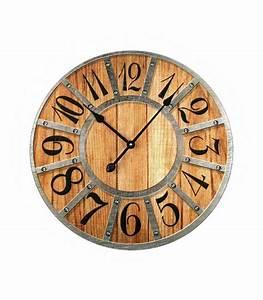 Horloge Murale Bois : horloge murale en verre motifs bois et m tal ~ Teatrodelosmanantiales.com Idées de Décoration