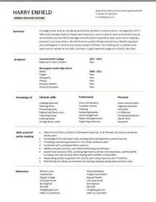library clerk resume student cv template sles student graduate cv qualifications career advice