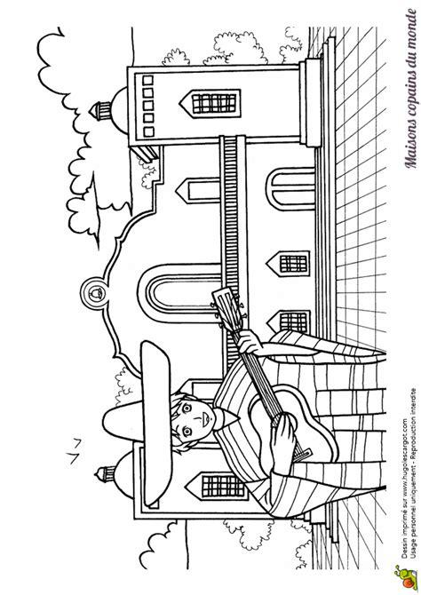 coloriage maison monde acienda sur hugolescargotcom