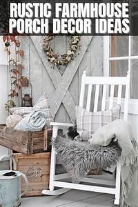 Amazing, Rustic, Farmhouse, Porch, D, U00e9cor, Ideas, Of, The, Season