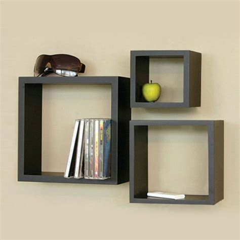 Square Shelves by 3 Square Wall Shelves Hoid Wall Shelves Design Cube