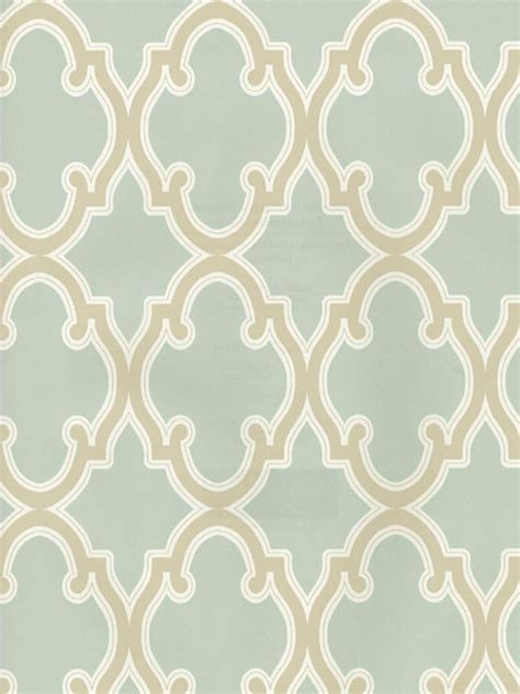 Teal Blue Living Room Decor by Moroccan Trellis Wallpaper Mediterranean Wallpaper
