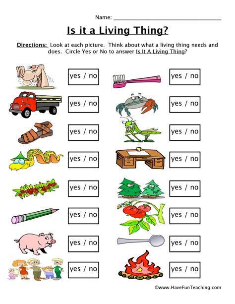 Free Living And Nonliving Things Worksheets  Have Fun Teaching