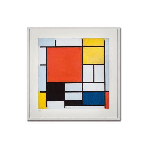 Rot Gelb Grün Blau by Piet Mondrian Komposition Mit Rot Gelb Blau Und