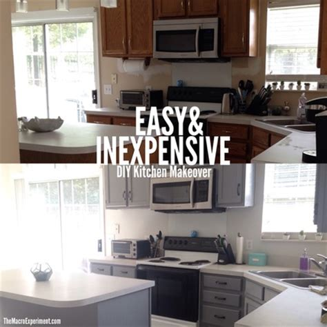 Cait's Easy & Inexpensive Diy Kitchen Makeover  The Macro