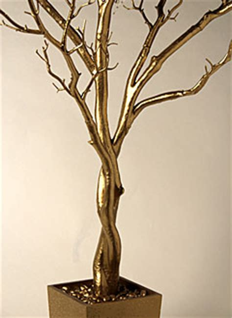 foot gold tree  decorative pot bendable branches