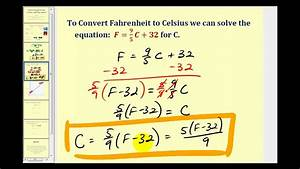 Converting Temperature Between Celsius and Fahrenheit ...