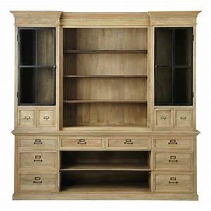 bibliotheque en manguier l 235 cm naturaliste maisons du With maison du monde meuble tv 0 meuble bibliothaque tv ivoire passy maisons du monde
