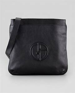 Lyst - Giorgio armani Mens Logo Messenger Bag in Black for Men