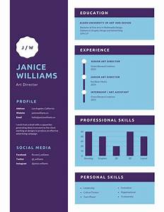 Simple Orange Logo Infographic Resume - Templates by Canva