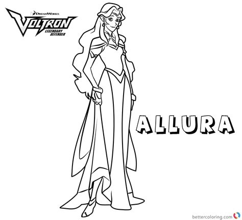 voltron coloring pages princess allura  printable