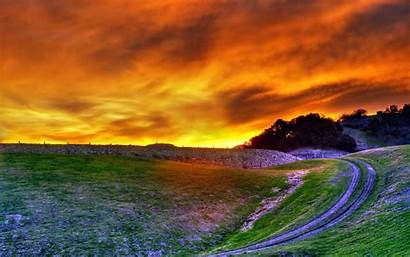 Sunset Hill Landscape Nature Wallpapers Desktop Backgrounds