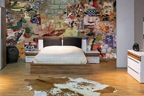 tapisserie originale chambre papier peint design moderne et original izoa