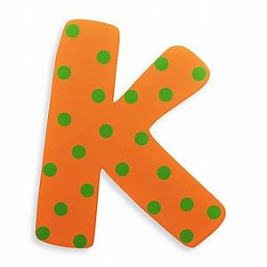 """Buy Bright-Colored Wooden Letter """"K"""" from Bed Bath & Beyond"""