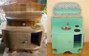 Diy une cuisine enfant en bois a fabriquer a partir de for Deco cuisine pour table de chevet
