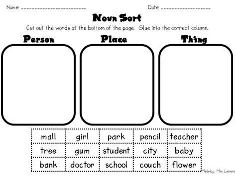 common noun worksheet 1st grade worksheets for all