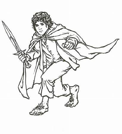 Coloring Lord Rings Pages Printable Hobbit Colouring
