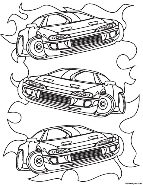 Coloring Pages For Boys by Printable For Boy Race Car Coloring Sheet Printable