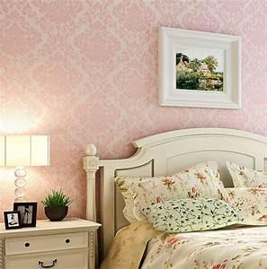 Luxury Victorian Vintage Light Pink Damask Fabric ...
