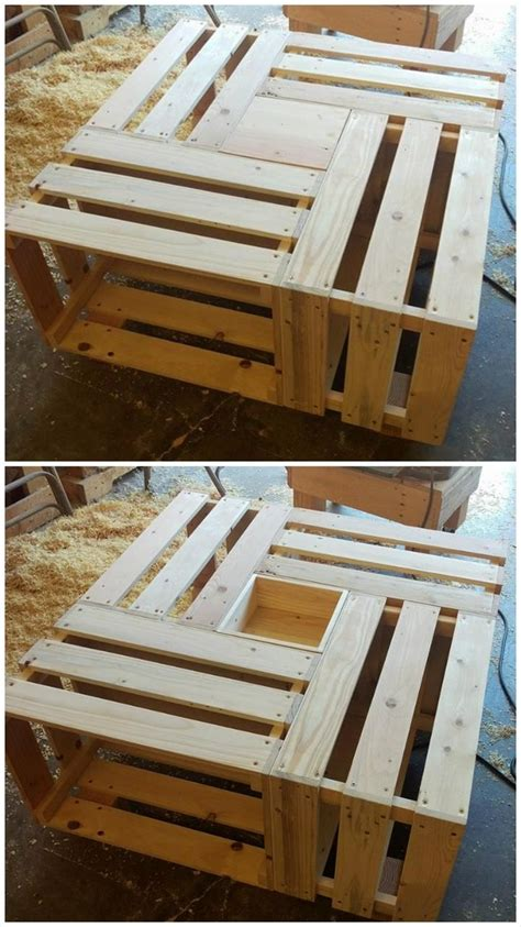 pallet crate square coffee tablejpg  pixels