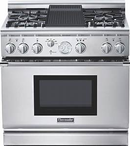 Thermador Prd364elg 36 U0026quot  Pro Grand Dual Fuel Range Stainless