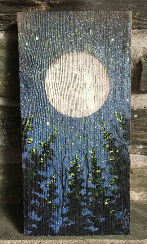 kind painting  weathered antique barn board