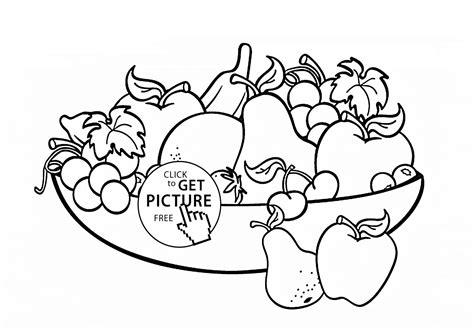 coloring pages   bowl  fruit az coloring pages