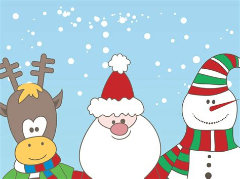 christmas characters vector vector art graphics
