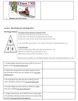 calculating work w fxd worksheets and key by hanging in