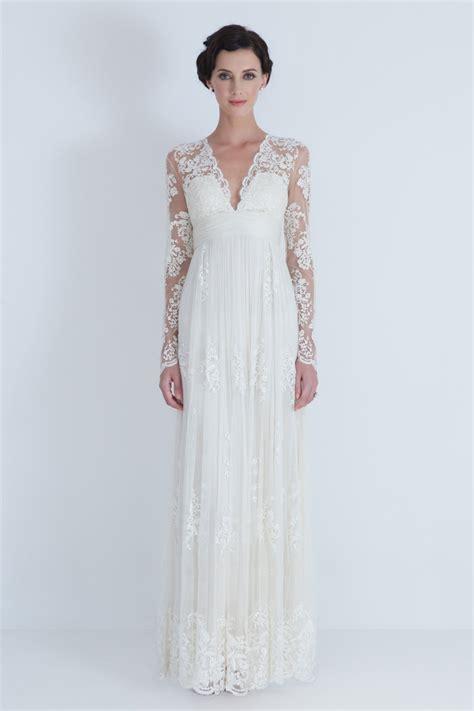 stunning long sleeve wedding dresses chic