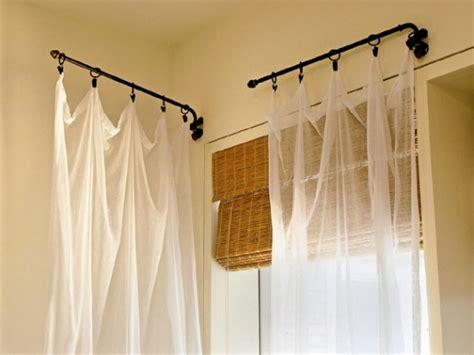 diy swing arm curtain rod best 25 swing arm curtain rods ideas on