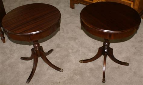 Living Room Antique Side Tables by Matched Pair Of Mahogany Duncan Phyfe Living Room Tables