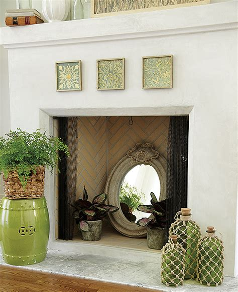 decorate inside fireplace creative ways to decorate your fireplace in the off season