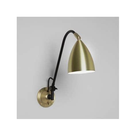 astro 7615 joel grande switched wall light matt gold