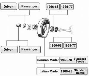 Vw Bug Wheel Bearings  Seals  U0026 Axle Boots 1966  Vw Parts