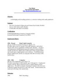 juvenile correctional officer resume sle for electrical engineers resume sles sle peer support specialist resume
