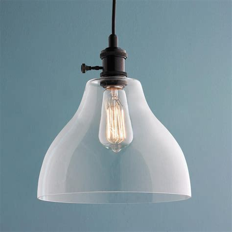 Glass Pendant Lighting by Clear Glass Bell Pendant Light Large Clearly Aiming To