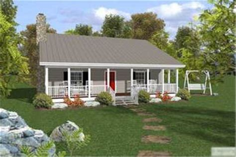 small ranch house plan bedroom front porch