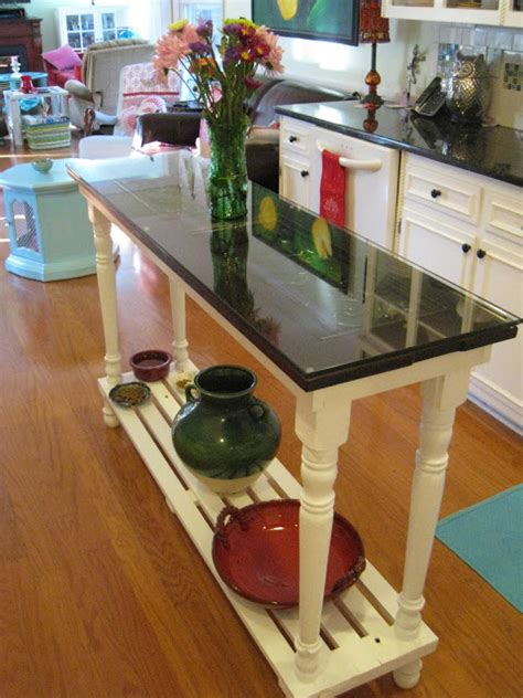 repurposed kitchen island two toned furniture makeovers sand and sisal 1885