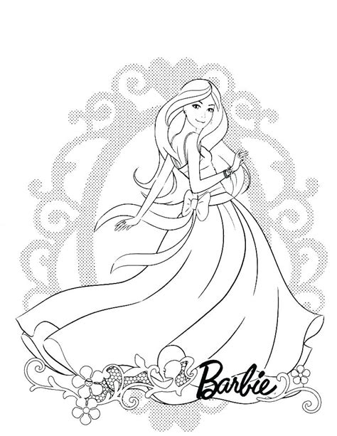 vintage barbie coloring pages  getcoloringscom  printable colorings pages  print